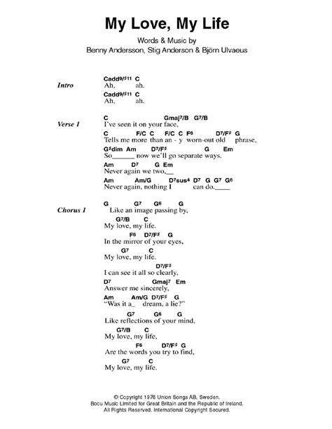 tutorial guitar love of my life my love my life by abba guitar chords lyrics guitar