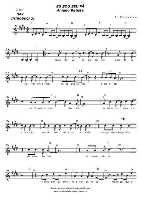 Partituras Musicais: Eu sou seu fã - Amado Batista - n.º 1842