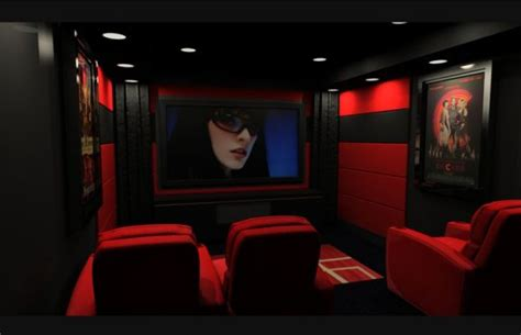 red and black room 35 modern media room designs that will blow you away