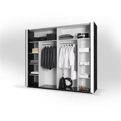 armoire design armoire lina noir et blanche laqu 233 e tout 233 quip 233 e meuble