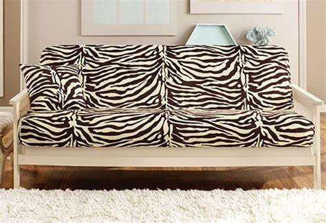 zebra print futon cover velvet zebra futon cover renew your dated futon with a