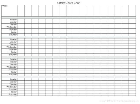 chore calendar template chore calendar template noshot info