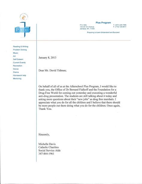 thank you letter office our office s community education program dr bernard