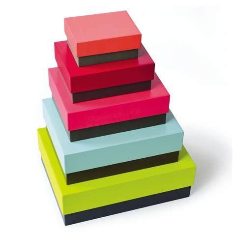 Boite Rangement Deco by Boites De Rangement Multicolores Remember Chez Deco