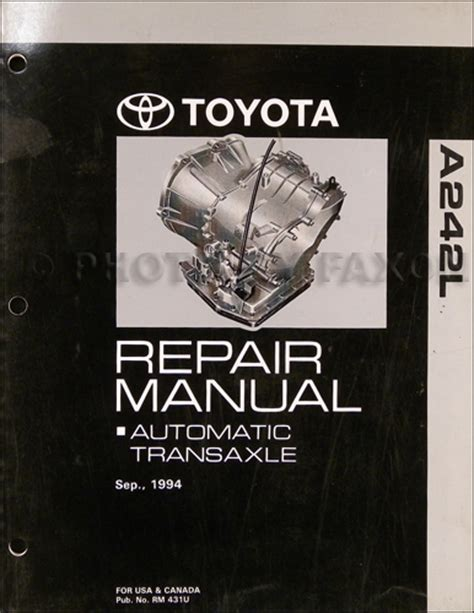 car repair manuals download 1994 toyota corolla transmission control 1994 2002 toyota corolla tercel 3 speed auto transmission repair shop manual