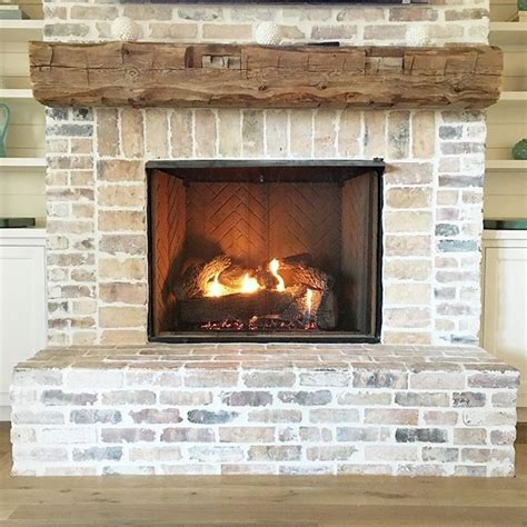 Rustic Brick Fireplace by Best 25 White Washed Fireplace Ideas On Brick