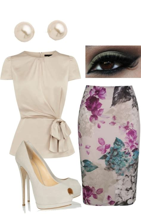 outstanding polyvore combos with pencil skirts