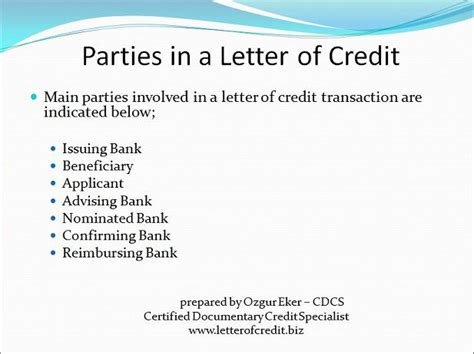 Letter Of Credit Banks Involved What Is Letter Of Credit Presentation 6 Lc Worldwide