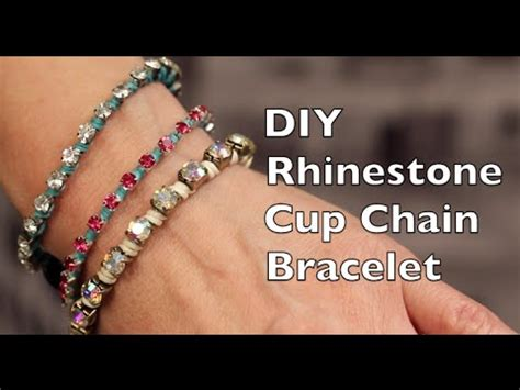 DIY Bracelet Tutorial   Rhinestone Cup Chain Bracelet   YouTube