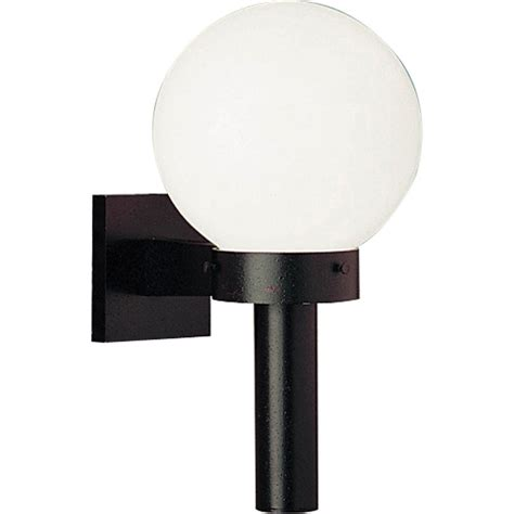 Exterior Globe Light Fixtures Shop Progress Lighting Globe 15 In H Black Outdoor Wall Light At Lowes