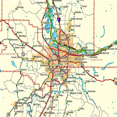 portland on map of oregon opinions on portland metropolitan area