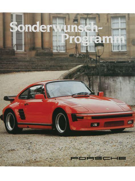 Porsche 930 History Porsche 930s Flachbau Sonderwunsch Programm 1985my