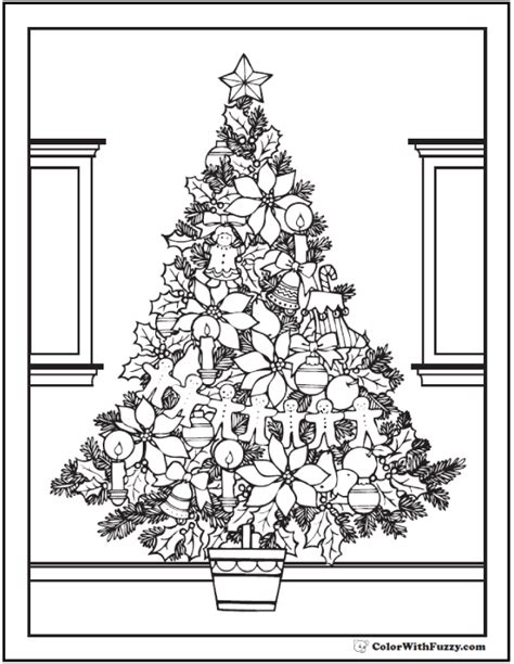 coloring pages for adults christmas tree 42 adult coloring pages customize printable pdfs