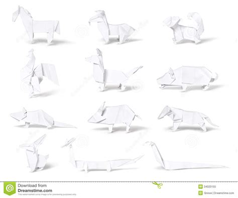 Origami Zodiac - origami paper zodiac royalty free stock photo