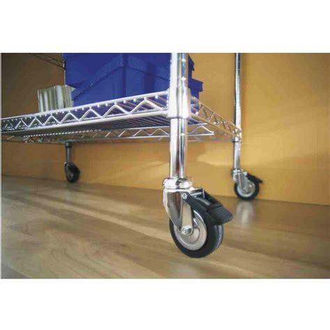 scaffali tubolari set 4 ruote tubolari in gomma per scaffali archimede mod