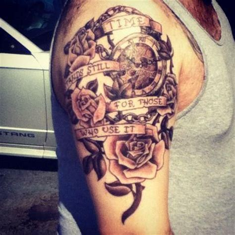 tattoos about time clock california tattoos and roses on