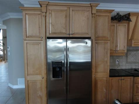 fridge kitchen cabinet pinterest