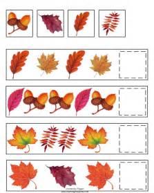 fall pattern skills math worksheet