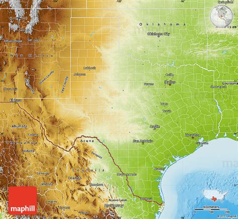 physical maps of texas physical map of texas