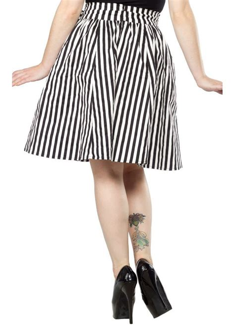 swinging skirts sourpuss striped swing skirt attitude clothing