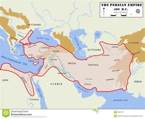 dinastie persiane mapa persa do imp 233 detalhado imagem de stock imagem