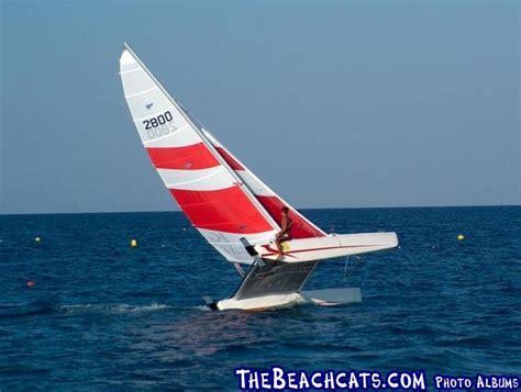 catamaran flying a hull topcat hull flying action in antalya catamaran