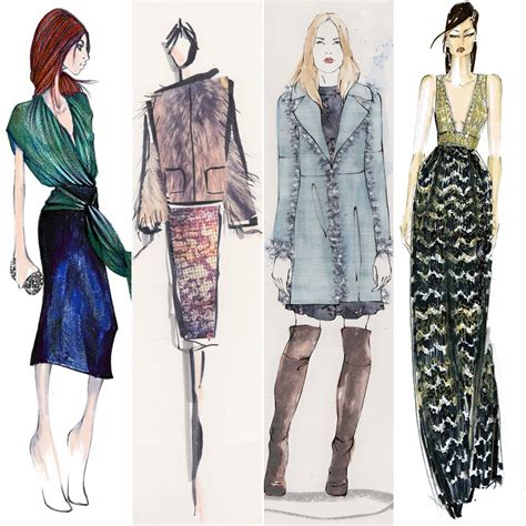 design clothes new designer sketches from new york fashion week fall 2015