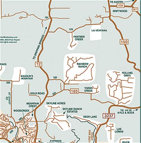map of wimberley texas detailed map of the wimberley texas area