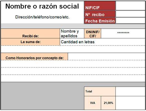 numerador automtico para facturas o recibos en excel plantilla de recibo para excel modelo plantilla
