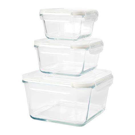 Ikea Food Container f 214 rtrolig food container set of 3 ikea