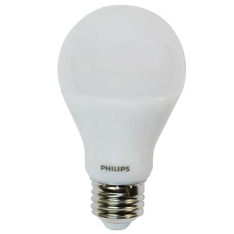 Led Philips 5w philips 9 5w dimmable led a19 shape frosted warm glow bulb 60w equiv bulbamerica