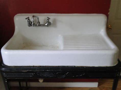 porcelain kitchen sink 1936 standard sanitary mfg company wall mount cast iron