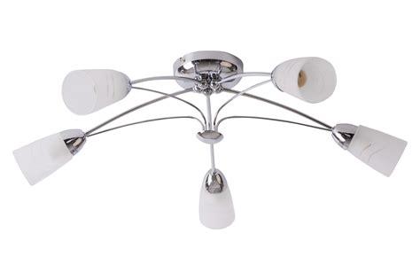 Chrome Ceiling Light Fitting Contemporary Silver Chrome Frosted Glass 5 Way Ceiling Light Fitting New Ebay