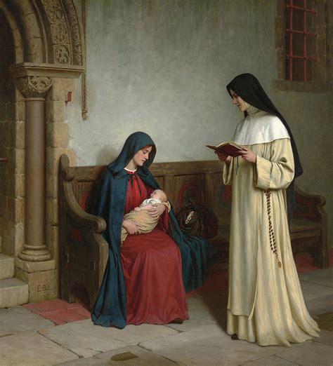 Duvet Sales Maternity Painting By Edmund Blair Leighton