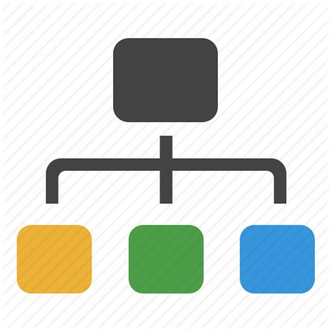 flowchart icons chart connections flow network organization structure
