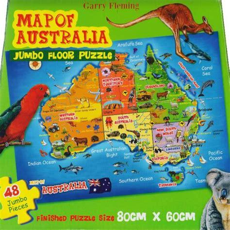 garry fleming map  australia  jumbo pc jigsaw puzzle