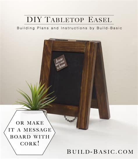 build  diy tabletop easel build basic