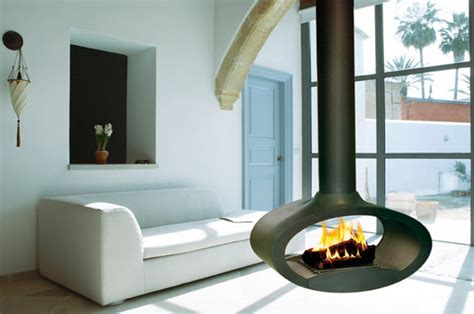ceiling mounted ellipse ethanol fireplace by decoflame
