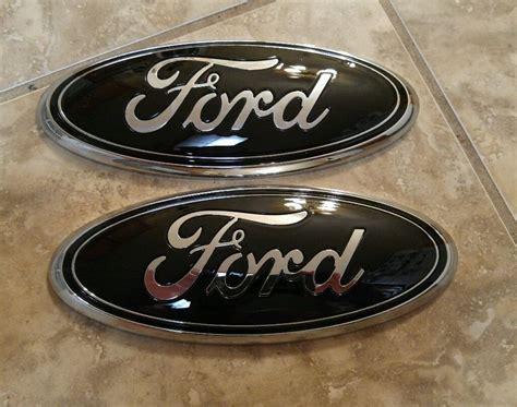 ford f150 grill emblem 2004 2014 ford f150 grill tailgate custom gloss black