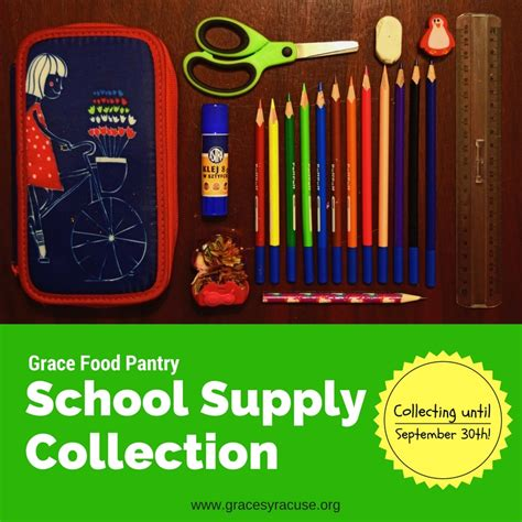 Our Of Grace Food Pantry by Grace Food Pantry Is Collecting School Supplies
