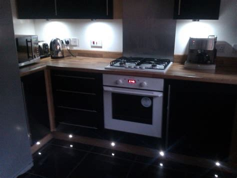 unit and plinth lighting contemporary kitchen