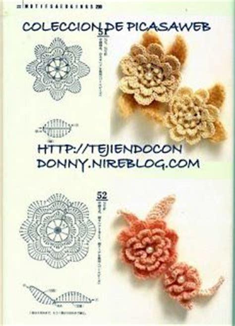 imagenes de flores tejidas a gancho patrones crochet ganchillo graficos puntos y sus