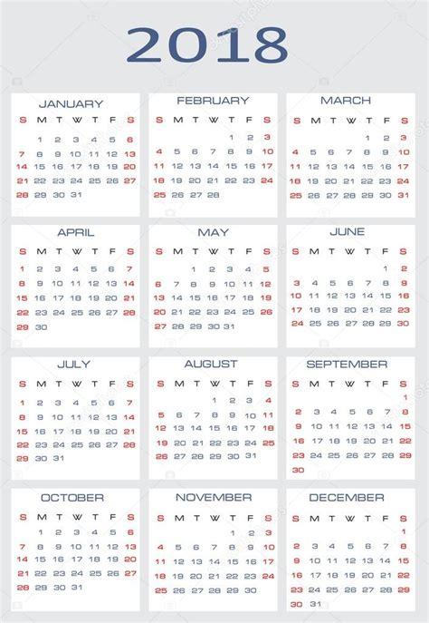 Hungary Calend 2018 Vector Calendar For 2018 Stock Vector 169 Mitay20 14526345