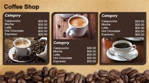 coffee menu template template gallery