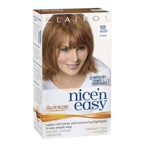 how to use nice n easy hair color clairol nice n easy hair color 108 natural reddish blonde