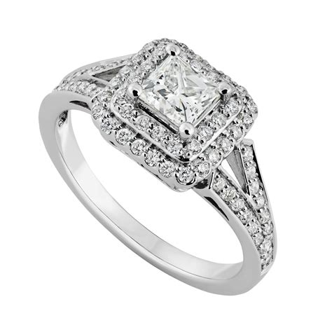 18ct white gold 0 85 carat princess cut ring