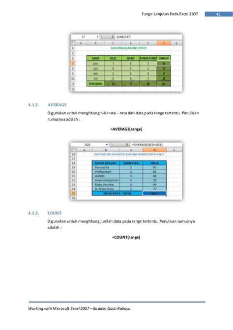 tutorial lengkap pemrograman excel 2007 rumus excel menghitung jumlah nama rumus microsoft