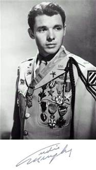 Audie Murphy Medal Of Honor World War Ii Congressional Medal Of Honor Recipient Audie