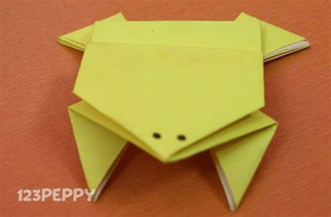 Paper Folding Competition - how to make origami jumping frog 123peppy