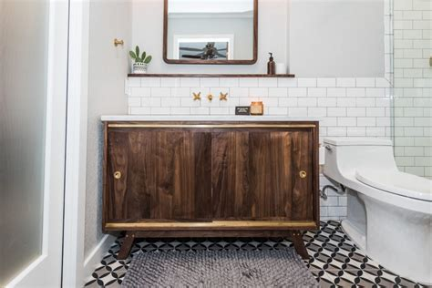 Midcentury Modern Bathroom Before & After   Irwin Construction